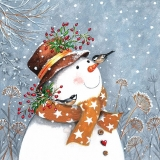 Snowman with Golden Scarf