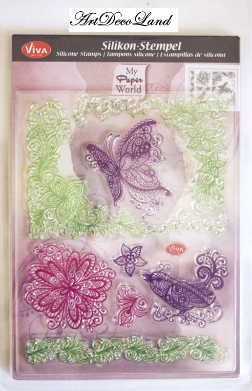 "Set stampile decorative ""Butterfly"""