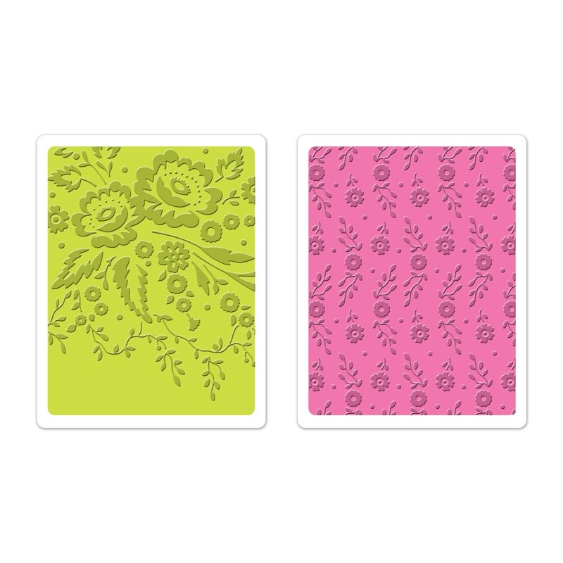 Set 2 placi embosare - Floral Tapestry & Sweet Blooms