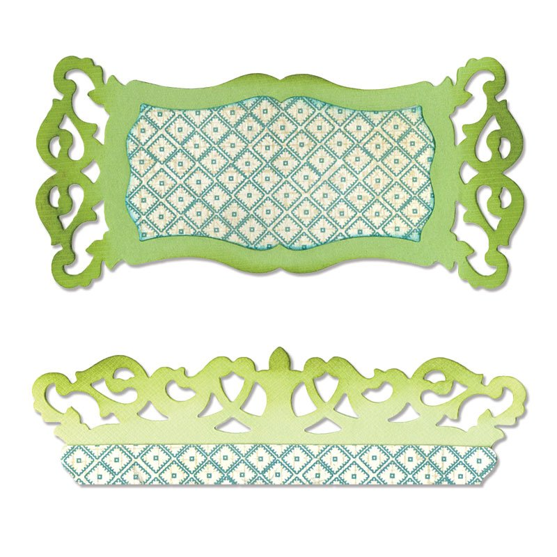 Cutter Sizzlits - Label & Edge, Scrollwork