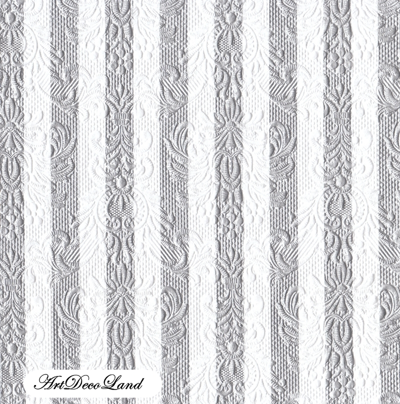 Embossed Stripes - Silver