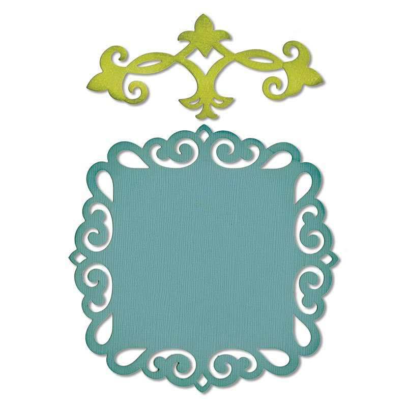 Set 2 cuttere Thinlits - Decorative Accent & Label