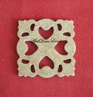 Ornament MDF - patrat 1