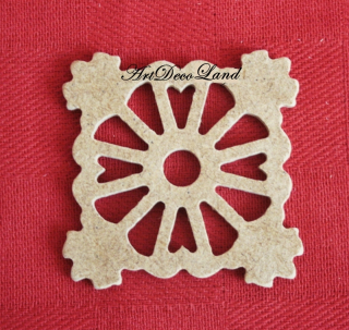 Ornament MDF - patrat 2