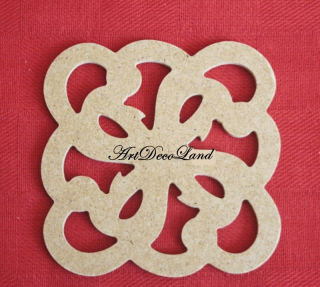 Ornament MDF - patrat 3