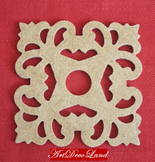 Ornament MDF - patrat 4