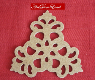 Ornament MDF - triunghi