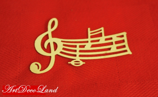 Sablon Sandy Art - Music Notes