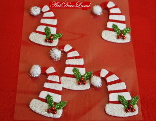 Deco sticker - Christmas Hats