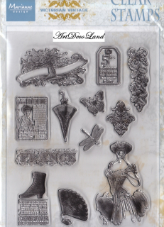 "Set stampile decorative ""Victorian Ladies 1"""