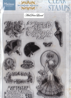 "Set stampile decorative ""Victorian Ladies 2"""