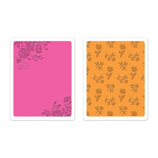 Set 2 placi embosare - Border Blooms & Garden Roses