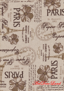 Sticker textil - Paris brown
