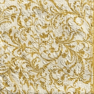 Elegance Damask Gold - embossed