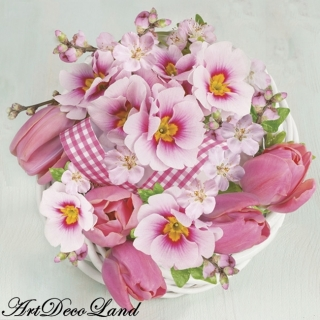 Pink Bunch in Wreath