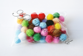 Set 50 Pom Pom 1,5cm - Multicolor