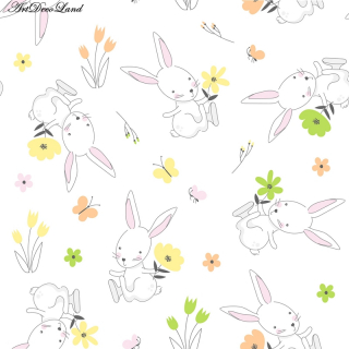Rabbit in Flowers