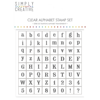 "Set stampile decorative ""Alphabet"" - Serif"