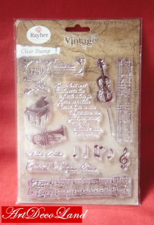 "Set stampile decorative ""Music"""