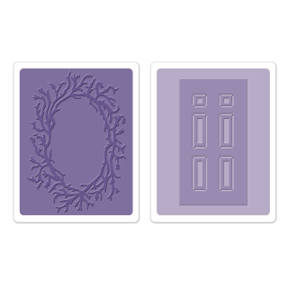 Set 2 placi embosare - Door & Wreath