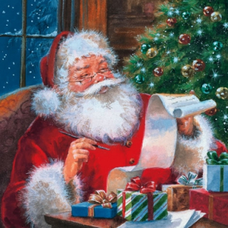 Santa Claus Cheching Wishlist